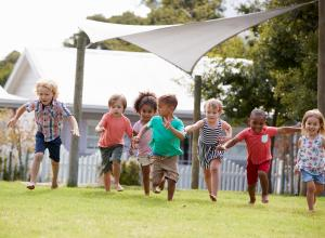 Children running and being active