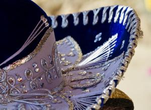 Close up photo of a sombrero.