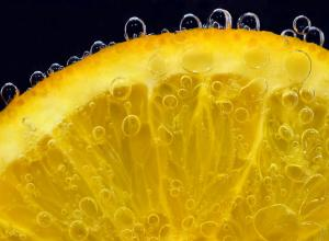 Sliced orange that can be used for making infused water.