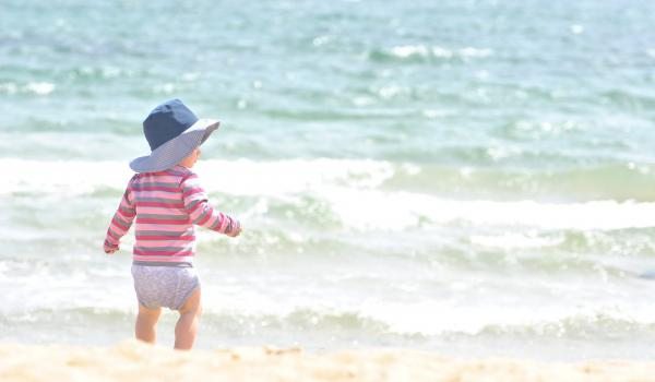Child at the seaside.