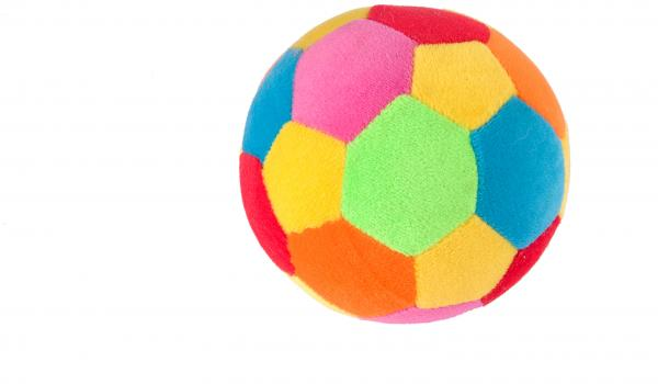 colourful soft ball on a white background