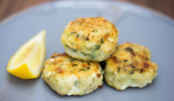 Fish cakes on plate.