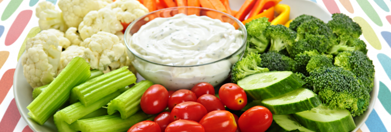 veg with dilly dip